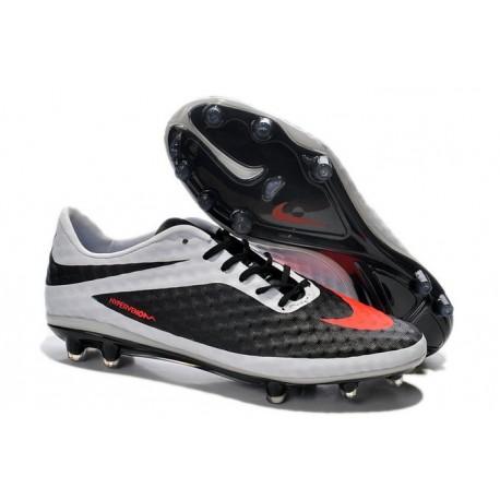 Cheap 2014 Nike HyperVenom Phantom FG ACC Football Boots Black White Orange
