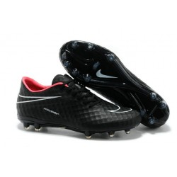 Nike Soccer Cleat New 2014 HyperVenom Phantom FG ACC Black Red