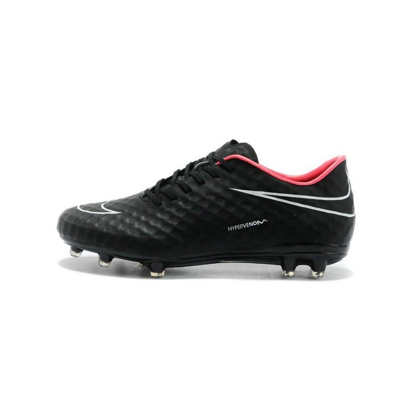 nike soccer cleat new 2014 hypervenom phantom fg acc black red