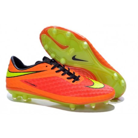 Nike Soccer Cleat Brazil 2014 World Cup Orange Volt HyperVenom Phantom FG ACC