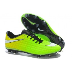 Nike Soccer Cleat New 2014 HyperVenom Phantom FG ACC Green White