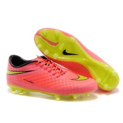 Nike Soccer Cleat New 2014 HyperVenom Phantom FG ACC Pink Yellow