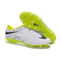 Nike Reflective White Volt Black Soccer Cleat New 2014 HyperVenom Phantom FG ACC