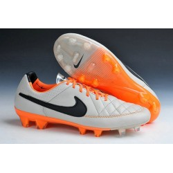 New Leather Ronaldinho Nike Tiempo Legend 5 FG Soccer Cleats Desert Sand Orange Black