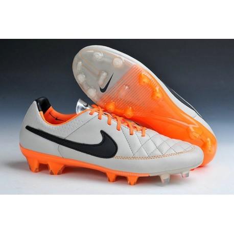 New Leather Ronaldinho Nike Tiempo Legend 5 FG Soccer Cleats Desert Sand Orange Black