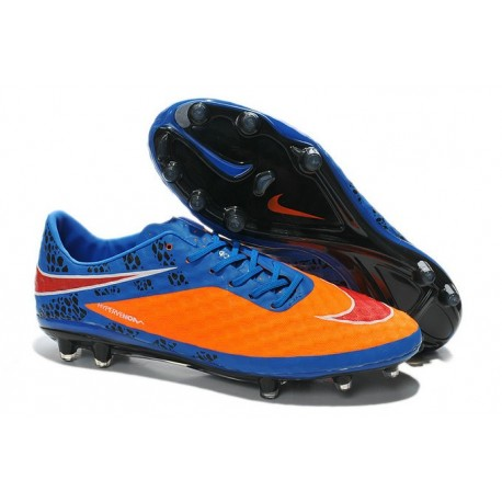 New Neymar World Cup 2014 Nike HyperVenom Phantom FG ACC Orange Blue Red