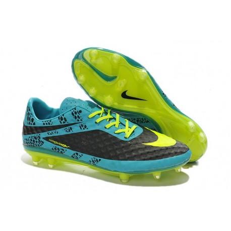 Discount 2014 New Nike HyperVenom Phantom FG ACC Boot Ref Blue Black Yellow