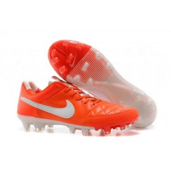 New 2014 Leather Crimson White Nike Tiempo Legend 5 FG Soccer Cleats