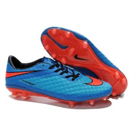 Neymar Personal 2014 New Nike HyperVenom Phantom FG ACC Boot Sapphire Blue Red