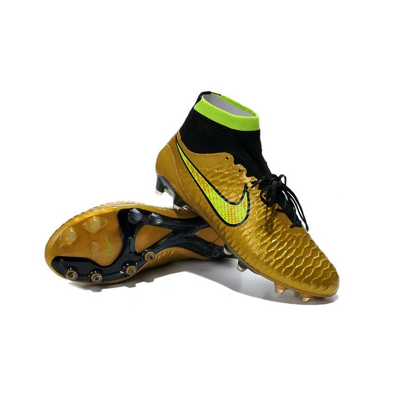 nike new 2014 soccer cleats gold volt black magista obra fg