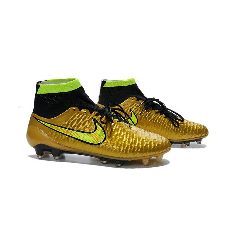nike new 2014 soccer cleats gold volt black magista obra fg