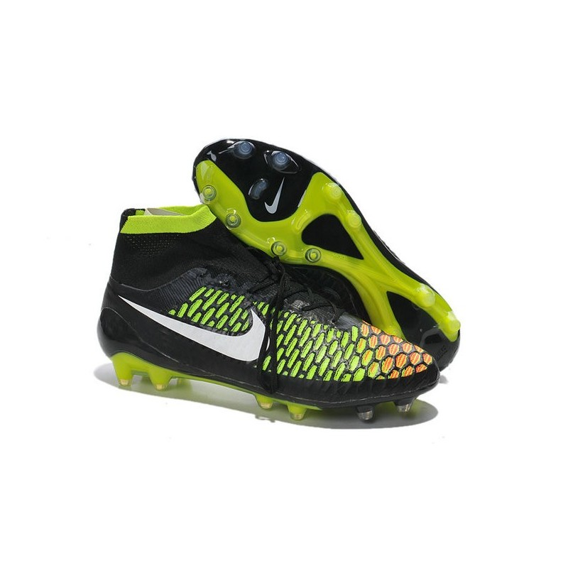 Nike New 2014 Soccer Cleats Black Volt Hyper Punch Magista ...
