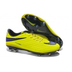 Neymar 2014 Nike HyperVenom Phantom Premium FG ACC Cleats Fluo Yellow Black