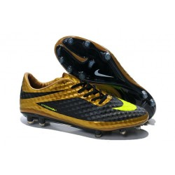 Neymar 2014 New Nike HyperVenom Phantom FG Premium ACC Cleats Gold Black Volt