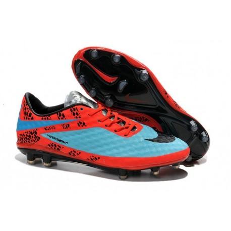Nike HyperVenom Phantom FG Premium ACC Neymar Cleats Ref Pack Blue Red