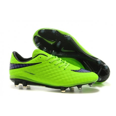 Nike HyperVenom Phantom FG Premium ACC Neymar Cleats Green Purple