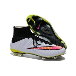 Nike Football Cleats Cheap 2014 Mercurial Superfly 4 FG White Pink