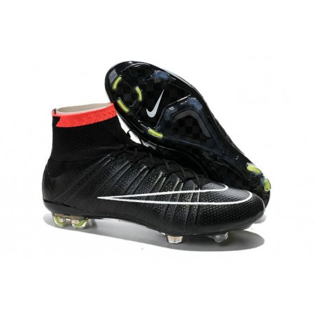 Nike Football Cleats Cheap 2014 Mercurial Superfly IV FG Black White Red
