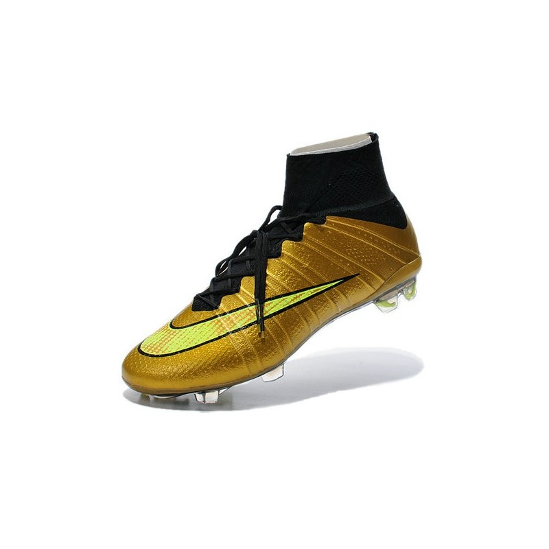nike football cleats cheap 2014 mercurial superfly 4 fg gold black. Black Bedroom Furniture Sets. Home Design Ideas