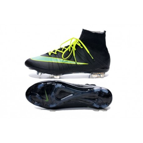 finest selection 952d6 e2355 Good New 2014-2015 Nike Mercurial Superfly 4 FG ACC Black Green