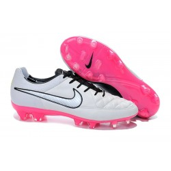 Nike Tiempo Legend V FG Firm Ground Football Boots White Pink Black
