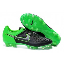 Nike Tiempo Legend V FG Firm Ground Football Boots Black Green