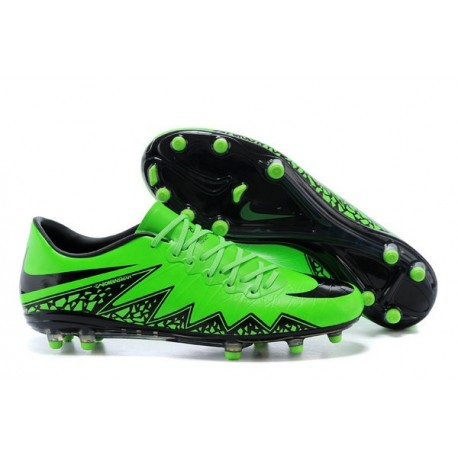 Nike 2015 New Boots HyperVenom Phantom Premium FG Green Black