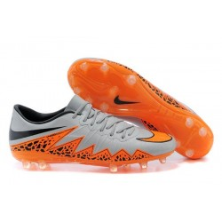 Nike 2015 New Boots HyperVenom Phantom Premium FG Silver Orange Black