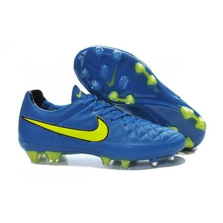 Nike Tiempo Legend V FG Firm Ground Football Boots Blue Volt