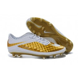 Nike 2015 New Boots HyperVenom Phantom Premium FG Neymar Golden White