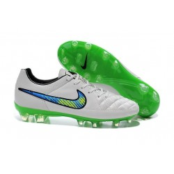 2015 White Green Nike Tiempo Legend V FG Firm Ground Football Boots