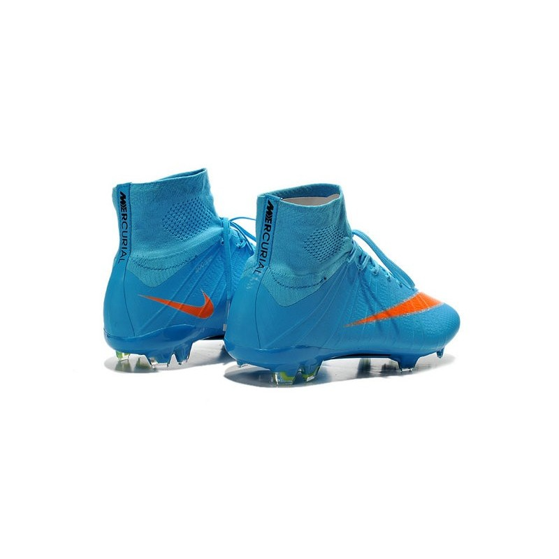 nike mercurial superfly fg acc 2015 new men soccer cleats blue orange. Black Bedroom Furniture Sets. Home Design Ideas