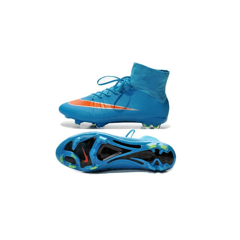 blue nike mercurial soccer cleats