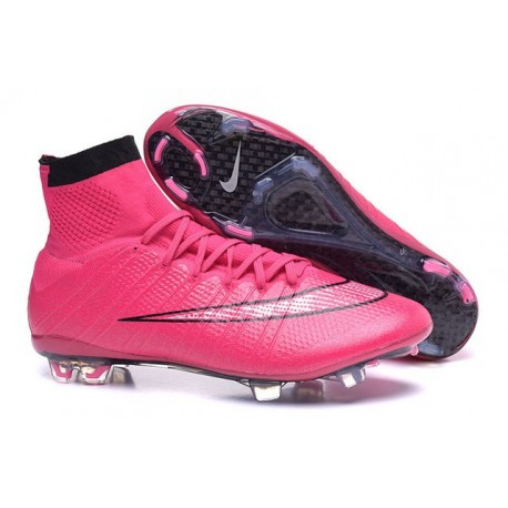 Nike Mercurial Superfly FG ACC 2015 New Men Soccer Cleats Hyper Pink Black