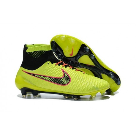 Top 2015 Men's Football Boots Nike Magista Obra FG With ACC Volt Black Orange