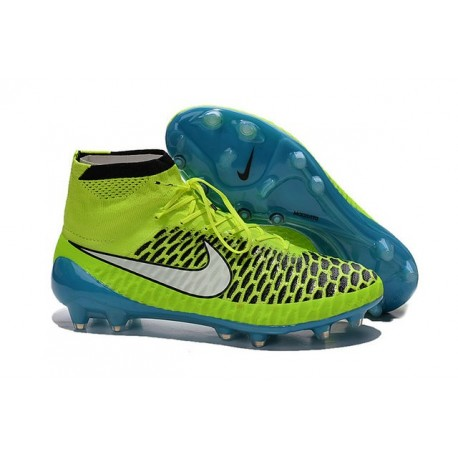 Top 2015 Men's Football Boots Nike Magista Obra FG With ACC Volt Black White