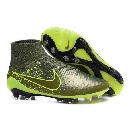Nike Power Clash New Magista Obra FG ACC Firm Ground Shoes in Green