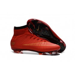 New Nike Mercurial Superfly Iv FG Firm Ground Cristiano Ronaldo CR7 Red Gold