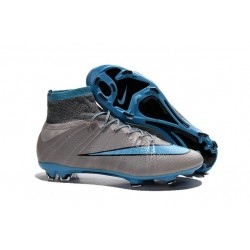 New Nike Mercurial Superfly Iv FG ACC Firm Ground Soccer Cleats Grey Blue