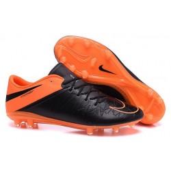 Nike 2015 New Boots HyperVenom Phantom Premium FG Black Orange