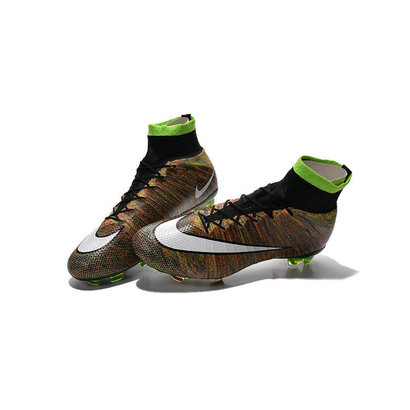 new nike mercurial superfly iv fg acc firm ground soccer cleats multi color white black. Black Bedroom Furniture Sets. Home Design Ideas