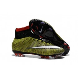 New Nike Mercurial Superfly Iv FG ACC Firm Ground Soccer Cleats Yellow White Black