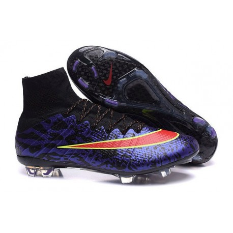 Nike Mercurial Superfly 4 FG Top Football Shoes Purple Red