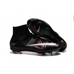 Cristiano Ronaldo Nike Mercurial Superfly CR7 FG Top Football Shoes Black White Red