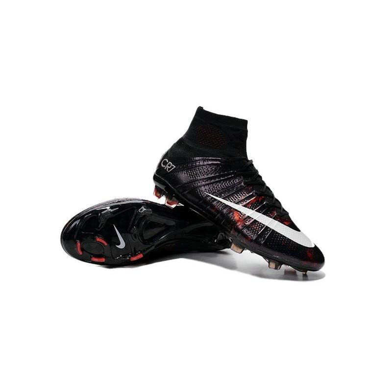 Nike Football Boots - Nike Mercurial Superfly CR7 FG - Black-White