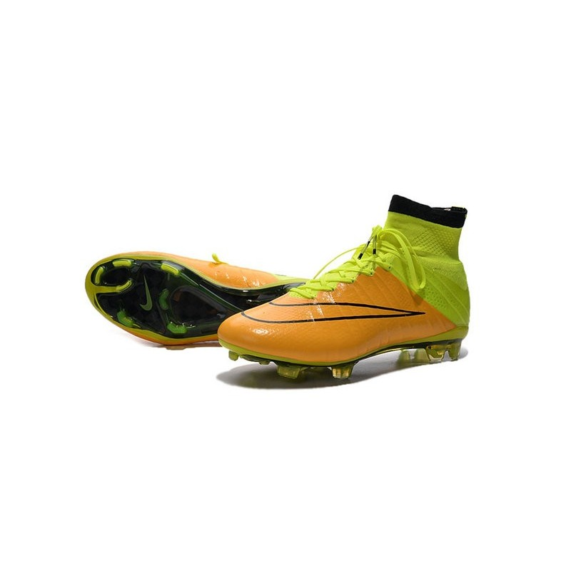 official photos aec1a 466c0 Nike Mercurial Superfly 4 FG Top Football Shoes Yellow Volt ...