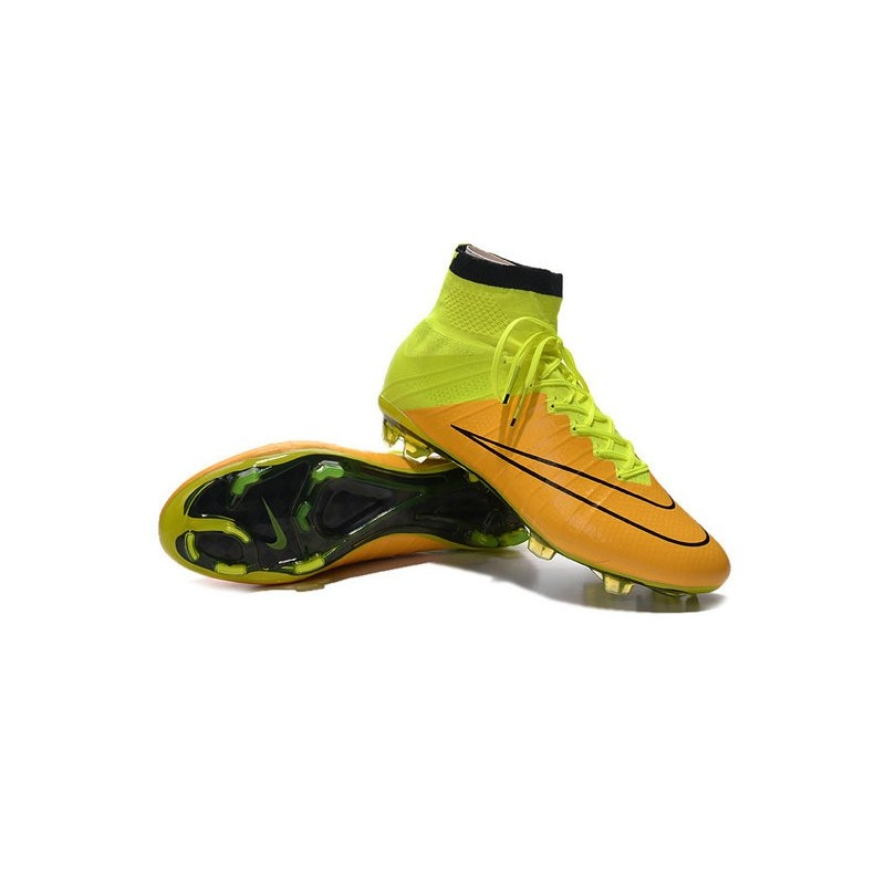 Nike Mercurial Superfly 4 Fg Top Football Shoes Yellow