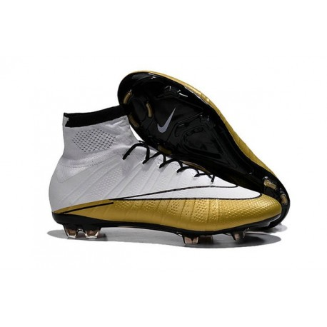Nike Mercurial Superfly 4 FG Top Football Shoes White Gold
