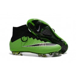 Nike Mercurial Superfly 4 FG Top Football Shoes in Green Black
