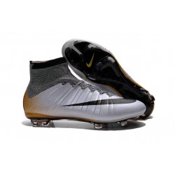 New Nike Mercurial Superfly CR7 324K Gold Cristiano Ronaldo Cleats Silver Black Mango